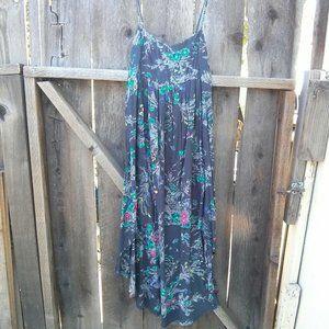 Billabong Slate Gray Rayon High Low Slip Dress